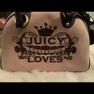 Juicy Couture pink and brown purse